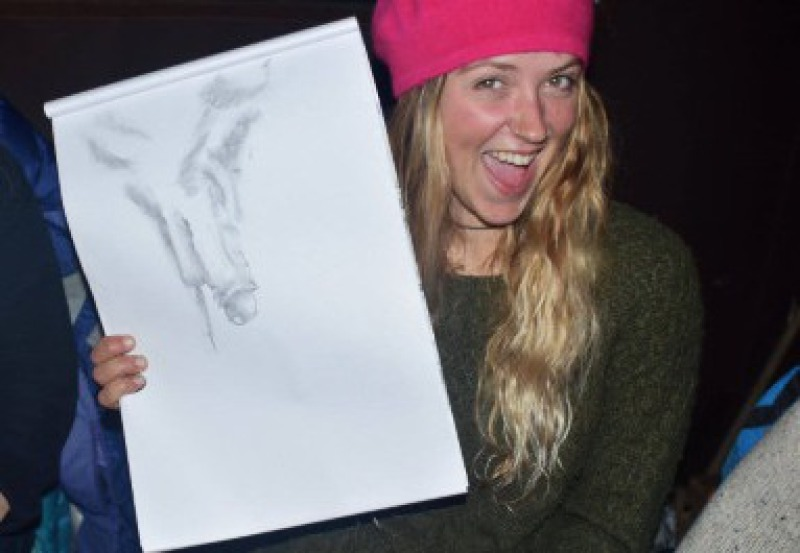 life drawing hen party manchester