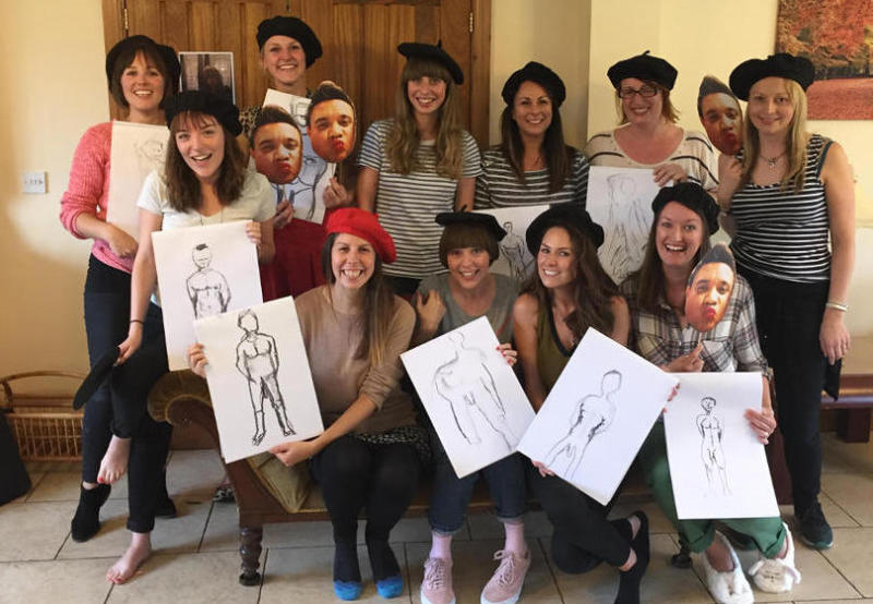 Hen party life drawing