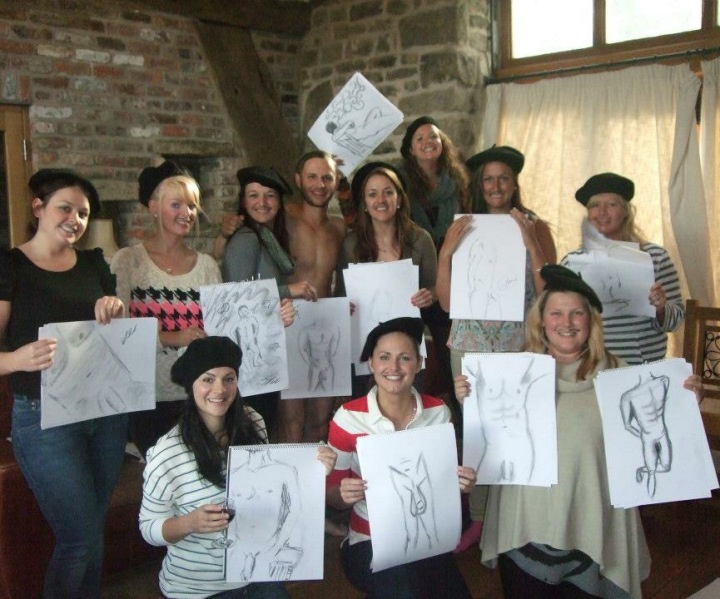 hen party life drawing manchester