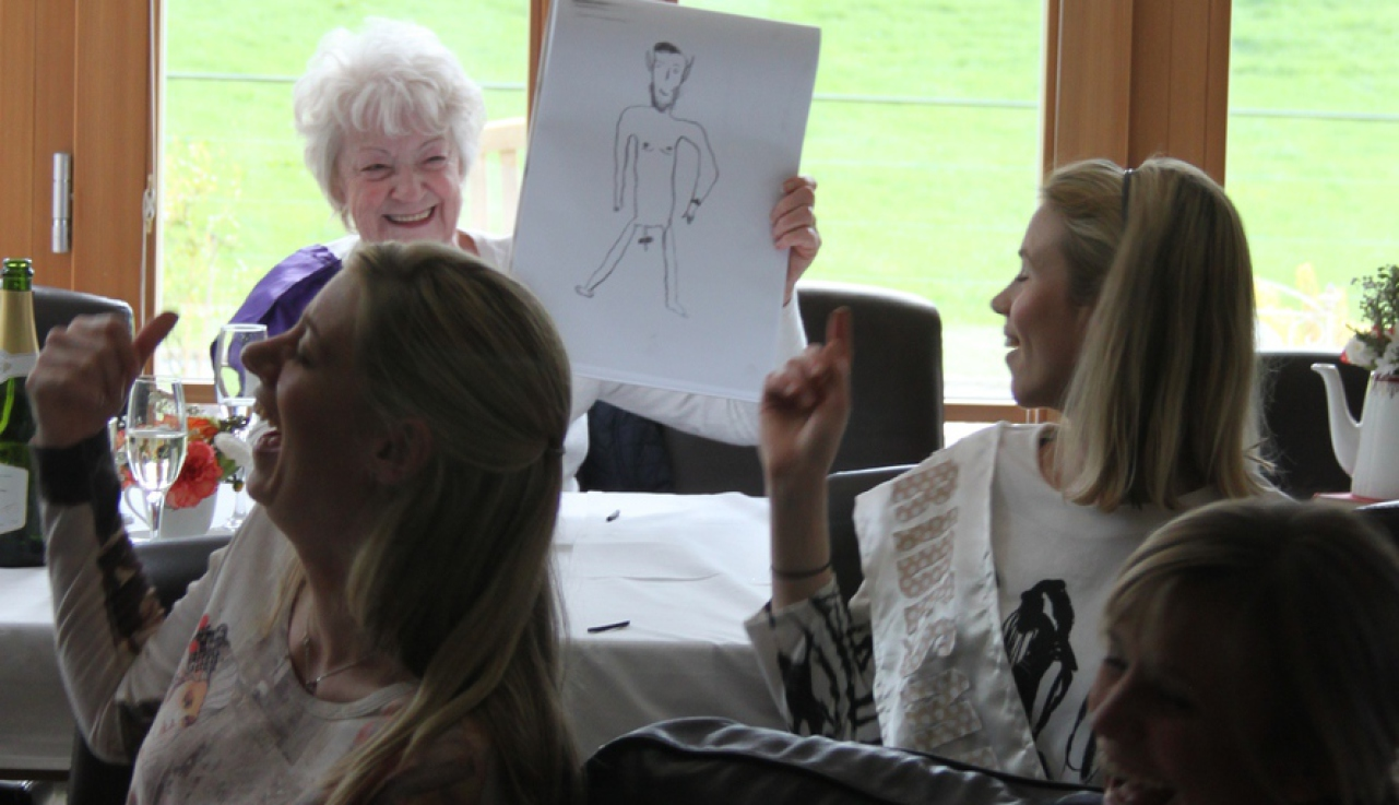 life drawing for hens parties is so much fun